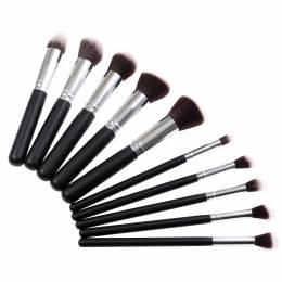 NANI kozmetické štetce na make-up 10 ks - Čierna