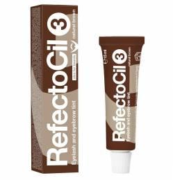 RefectoCil farba na mihalnice a obočie 15 ml - Prírodná hnedá č. 3