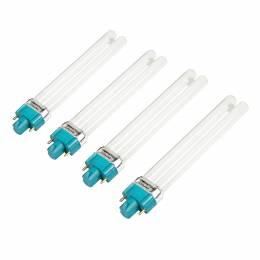 Žiarivka 9 W UVA do UV lampy - Pomalý štart, guľatá pätice, 4 ks