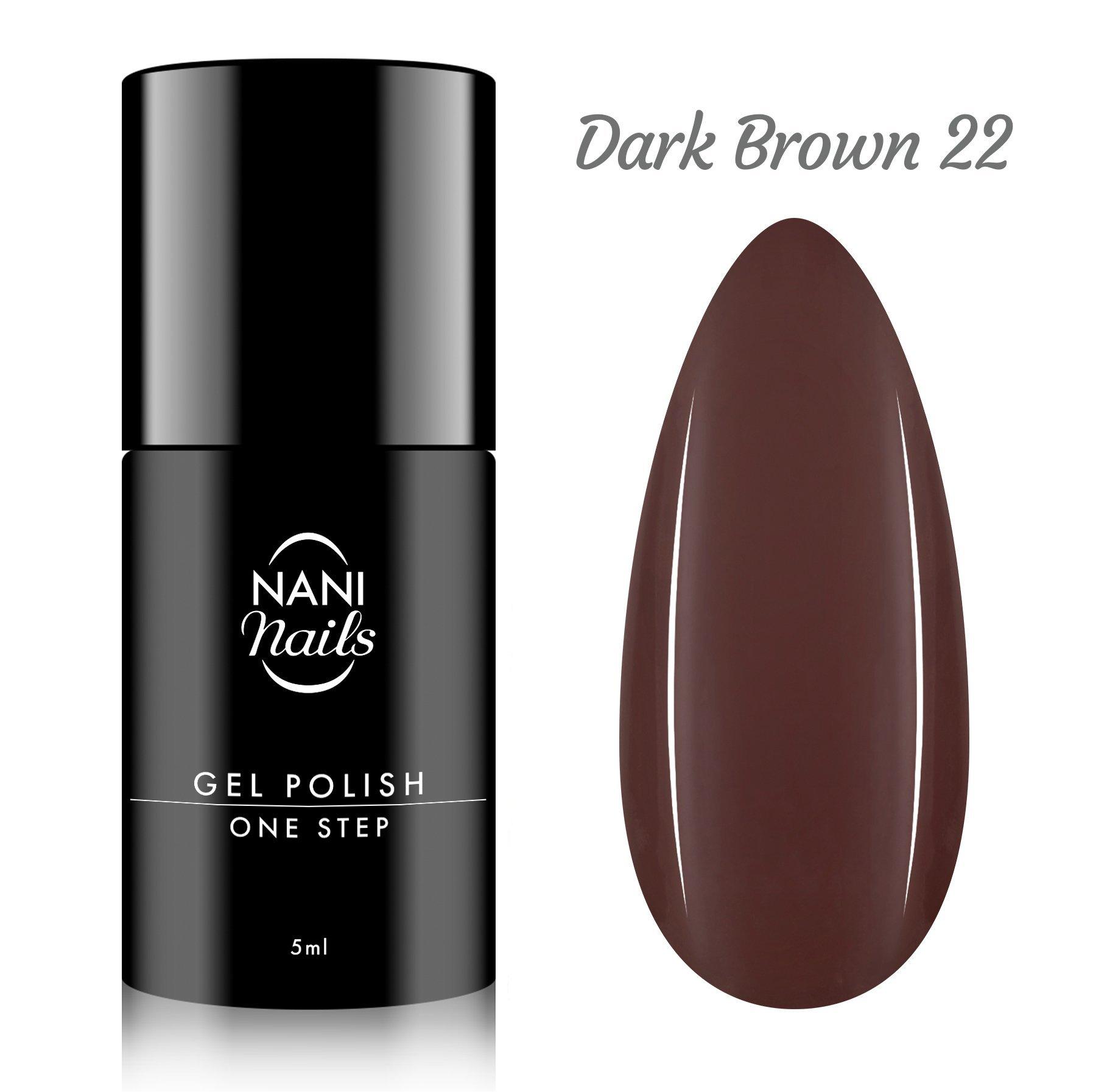 NANI gél lak One Step Lux 5 ml - Dark Brown