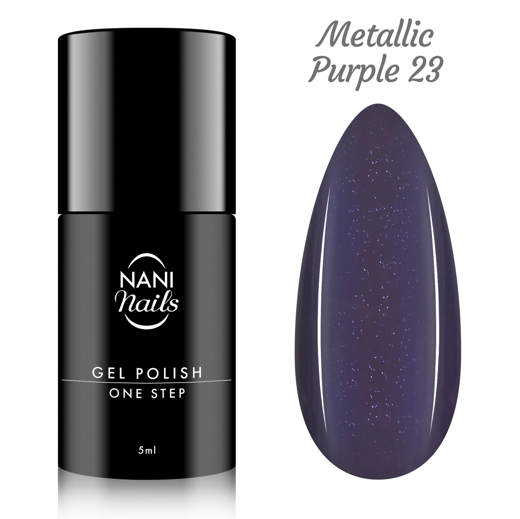 NANI gél lak One Step Lux 5 ml - Metallic Purple