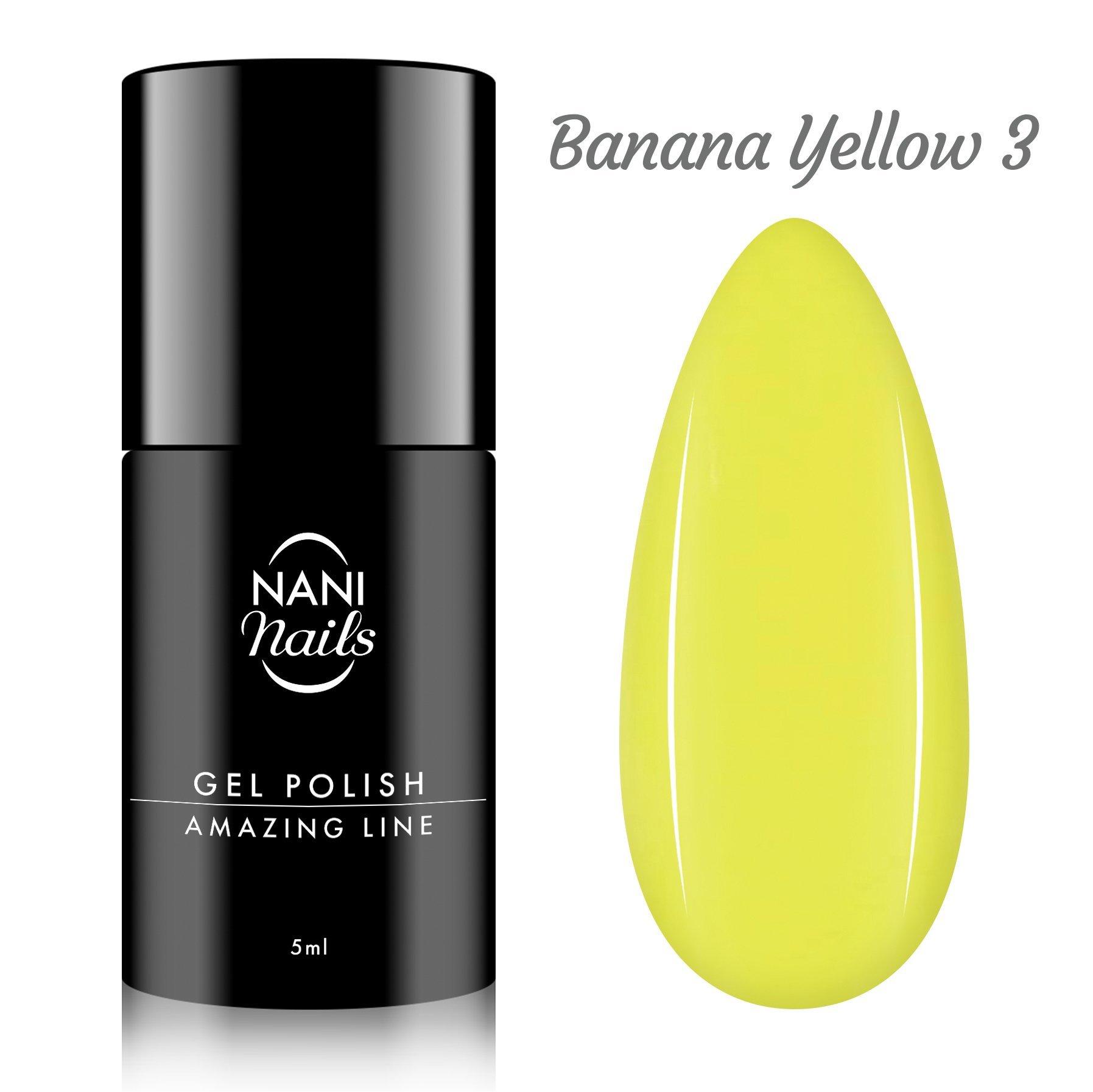 NANI gél lak Amazing Line 5 ml - Banana Yellow