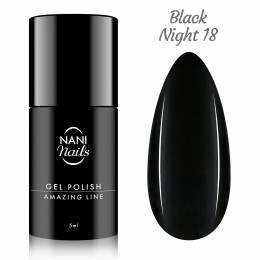 NANI gél lak Amazing Line 5 ml - Black Night