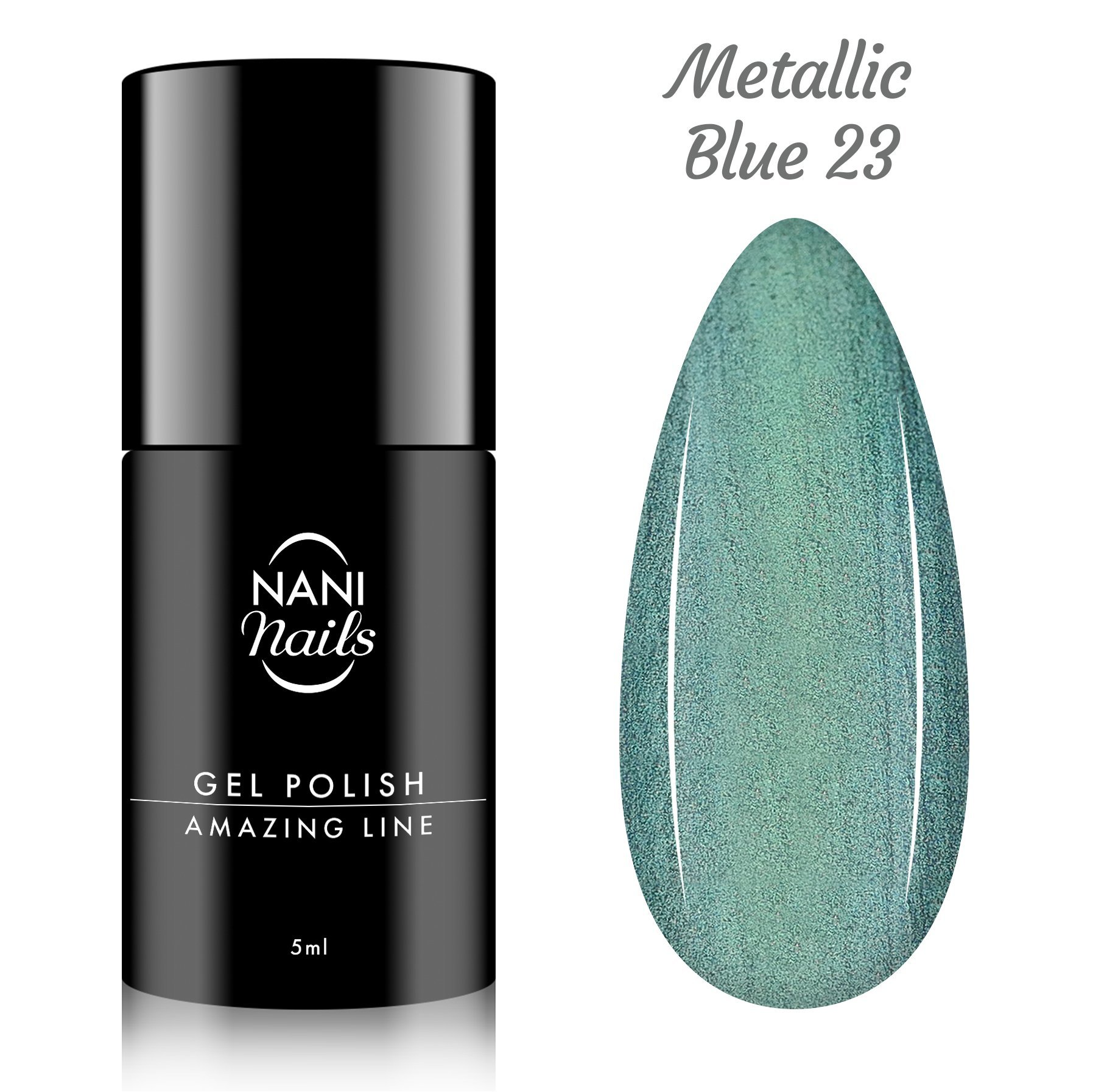 NANI gél lak Amazing Line 5 ml - Metallic Blue