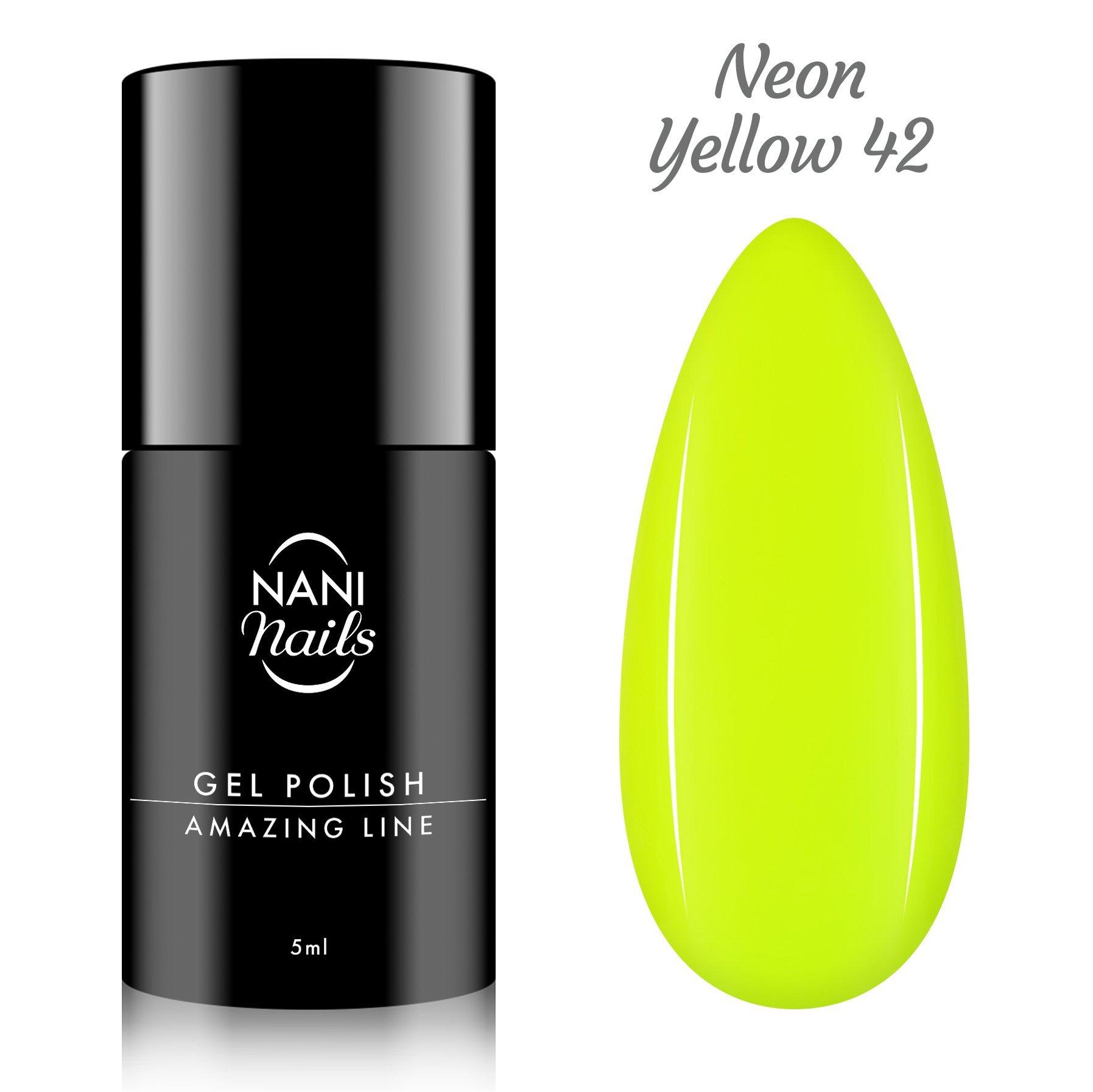 NANI gél lak Amazing Line 5 ml - Neon Yellow