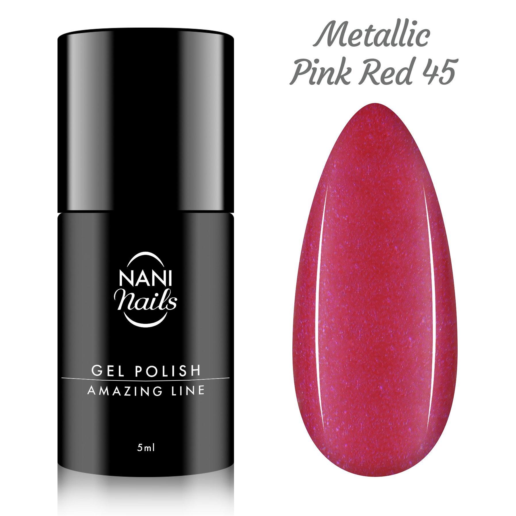 NANI gél lak Amazing Line 5 ml - Metallic Pink Red