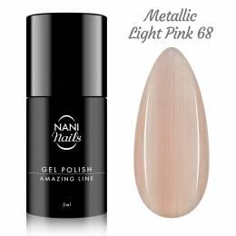 NANI gél lak Amazing Line 5 ml - Metallic Light Pink