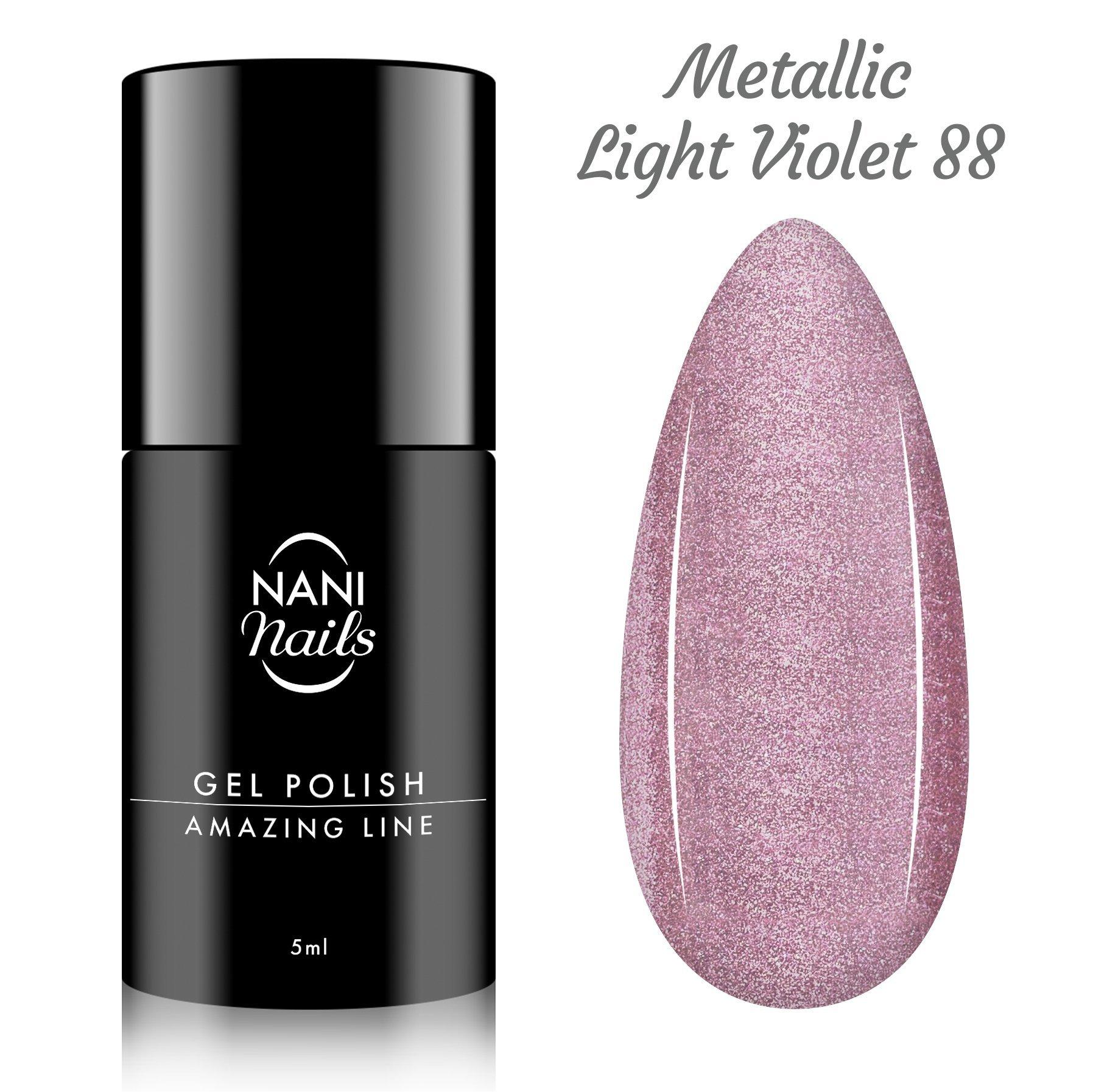 NANI gél lak Amazing Line 5 ml - Metallic Light Violet