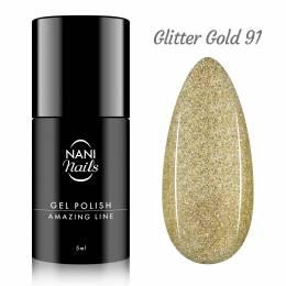 NANI gél lak Amazing Line 5 ml - Glitter Gold