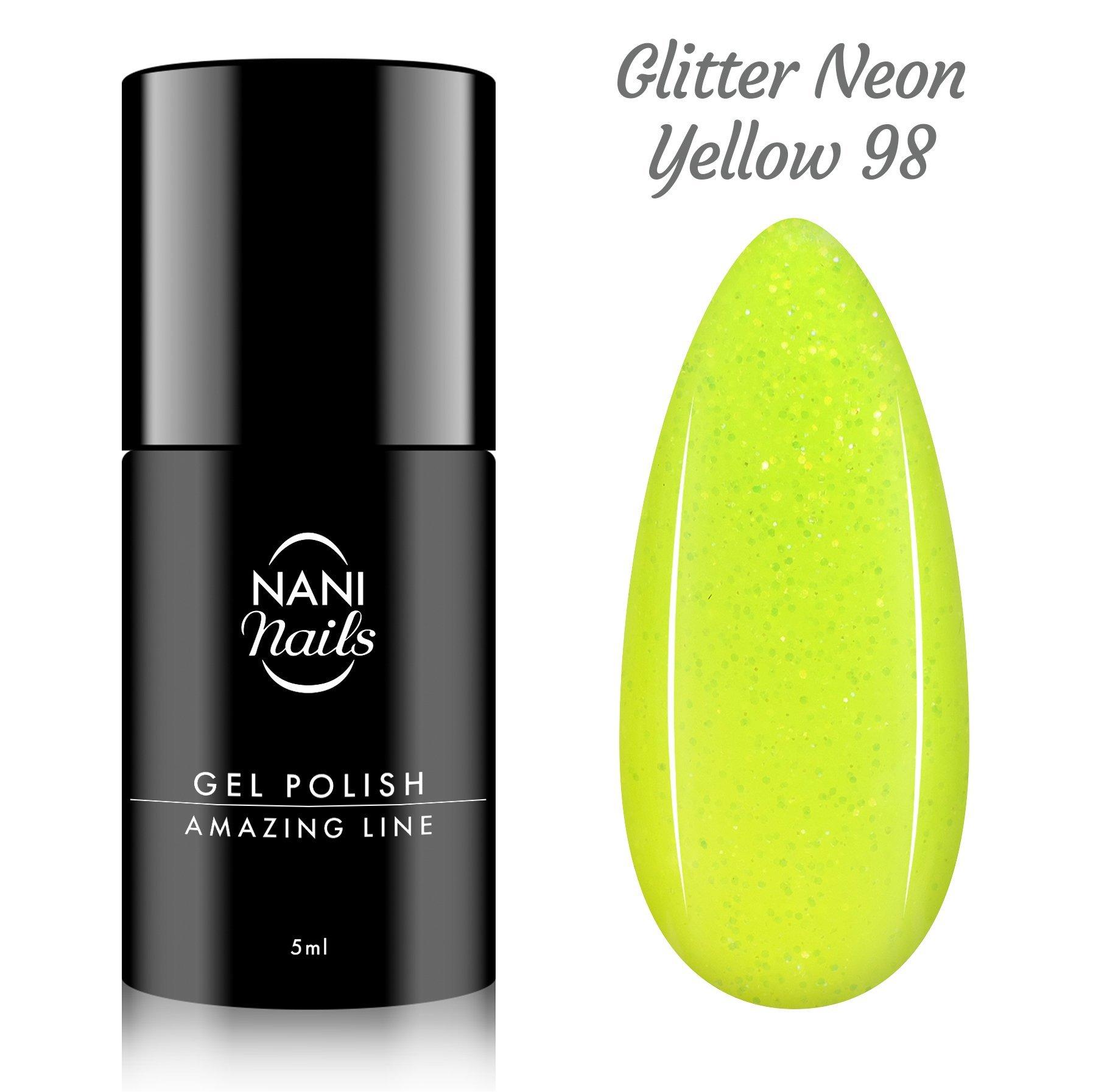 NANI gél lak Amazing Line 5 ml - Glitter Neon Yellow