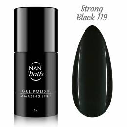 NANI gél lak Amazing Line 5 ml - Strong Black