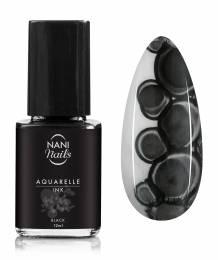 NANI zdobiaci lak Aquarelle INK 12 ml - Black