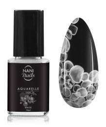 NANI zdobiaci lak Aquarelle INK 12 ml - White