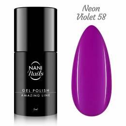 NANI gél lak Amazing Line 5 ml - Neon Violet