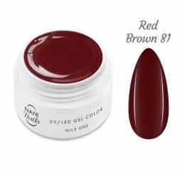 NANI UV gél Nice One Color 5 ml - Red Brown