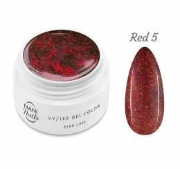 NANI UV gél Star Line 5 ml - Red