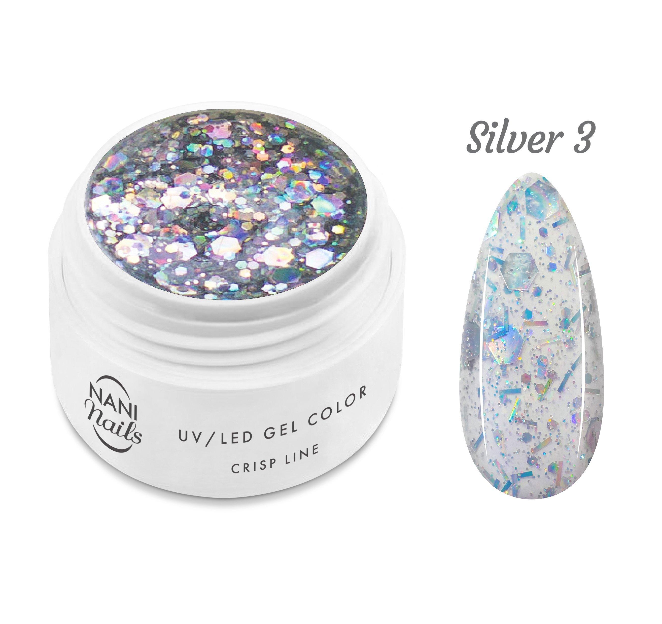 NANI UV gél Crisp Line 5 ml - Silver