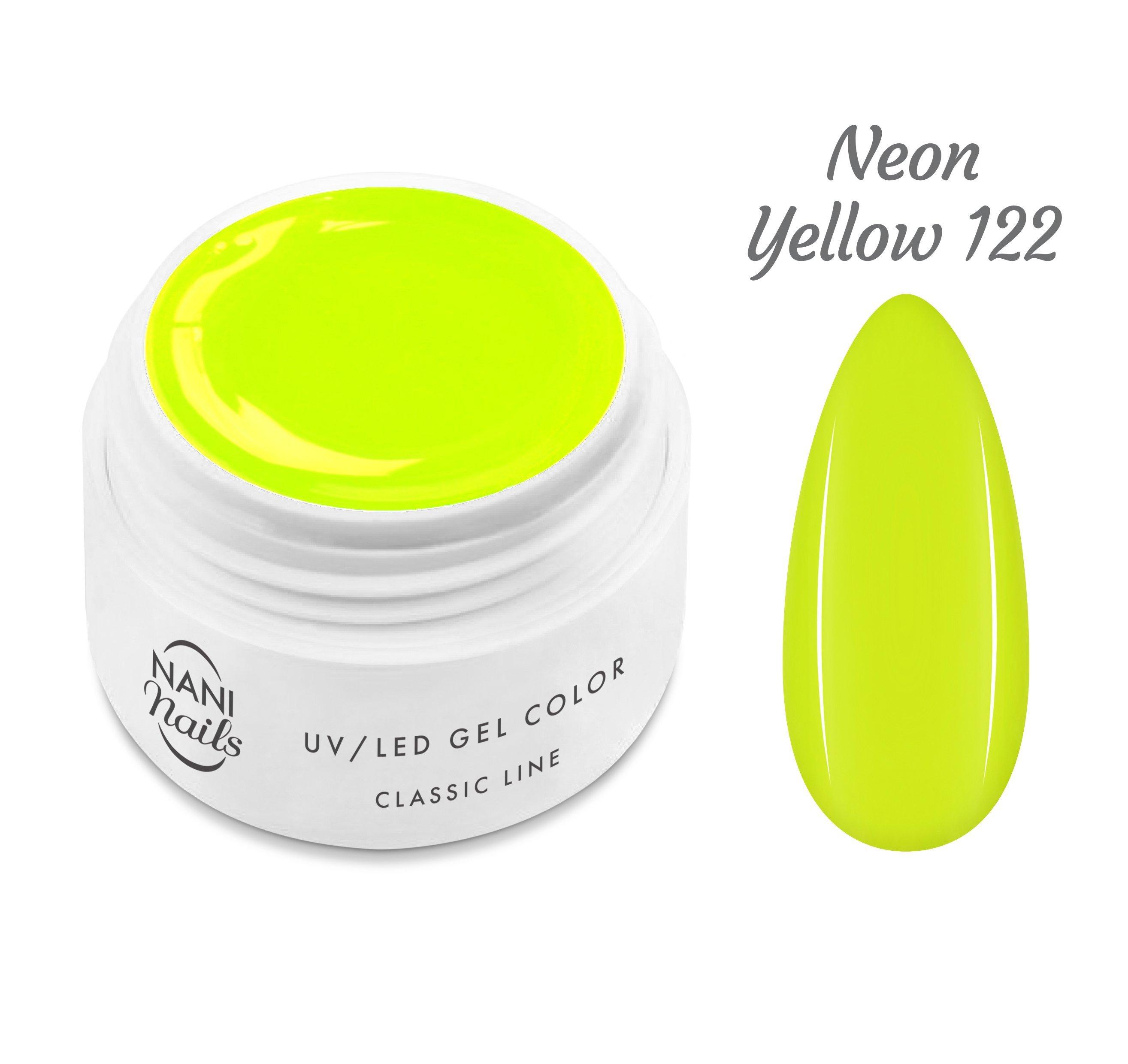 NANI UV gél Classic Line 5 ml - Neon Yellow