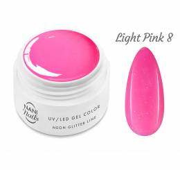 NANI UV gél Neon Glitter Line - Light Pink