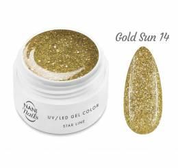 NANI UV gél Star Line 5 ml - Gold Sun