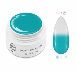 NANI termo UV gél 5 ml - Turquoise White Glitter