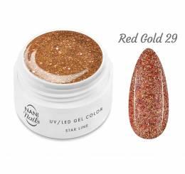NANI UV gél Star Line 5 ml - Red Gold