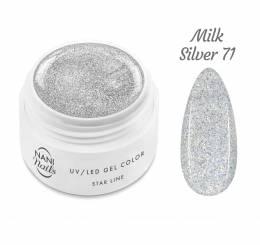 NANI UV gél Star Line 5 ml - Milk Silver
