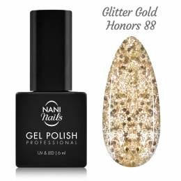 NANI gél lak 6 ml - Glitter Gold Honors