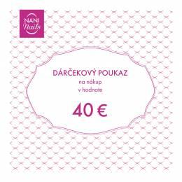 Darčekový poukaz v hodnote 40 EUR
