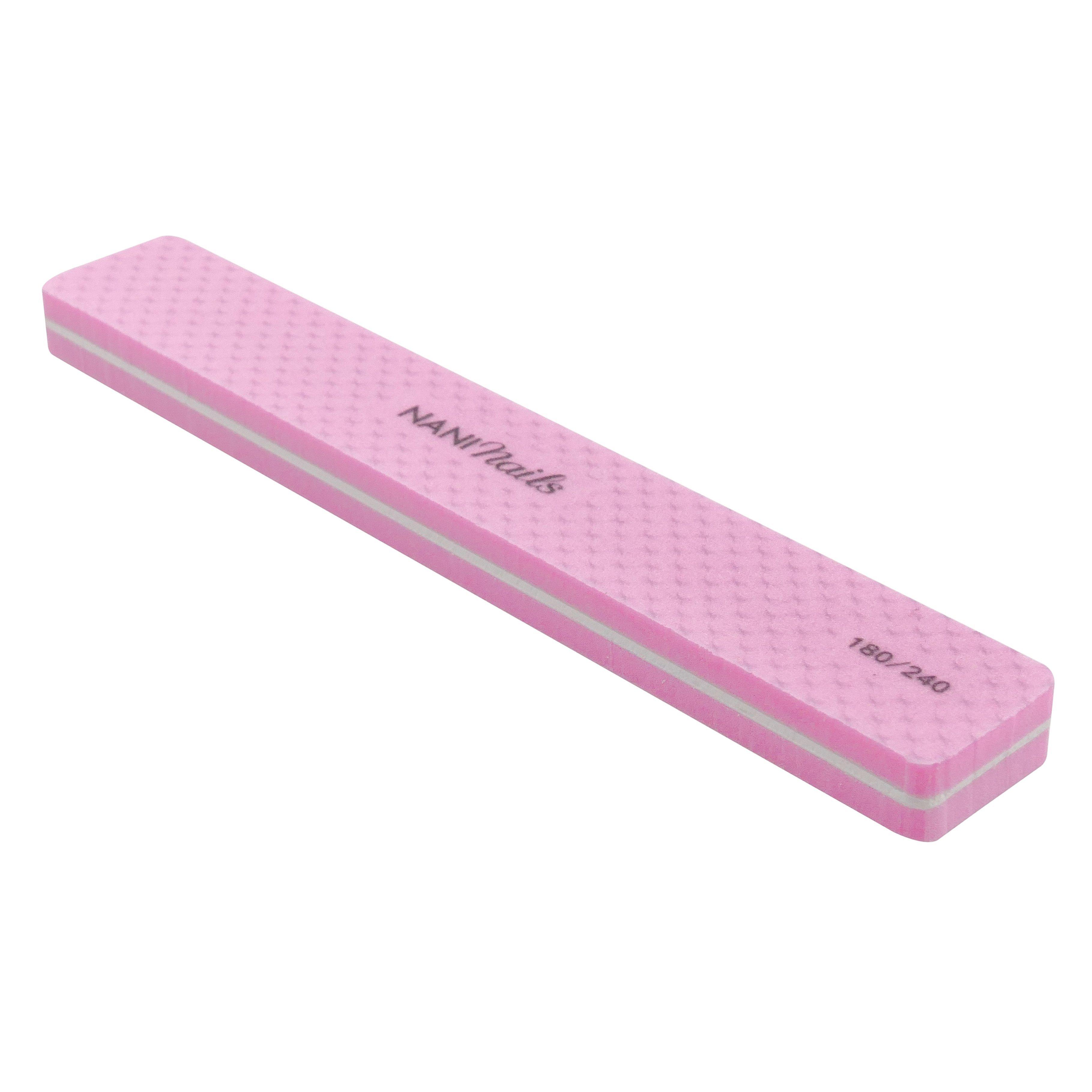 NANI pilník na nechty 180/240 - Ružová