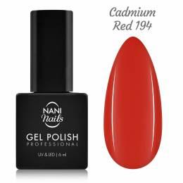 NANI gél lak 6 ml - Cadmium Red