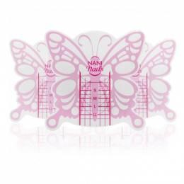 NANI šablóny na nechty Butterfly Short, 100 ks